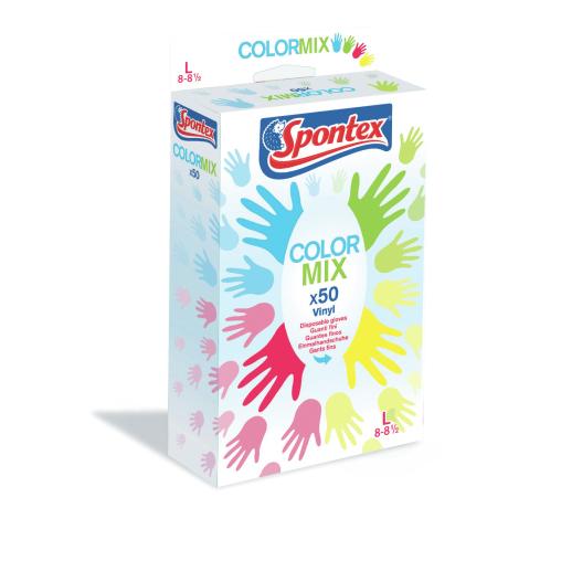 Spontex Color Mix Einmalhandschuh