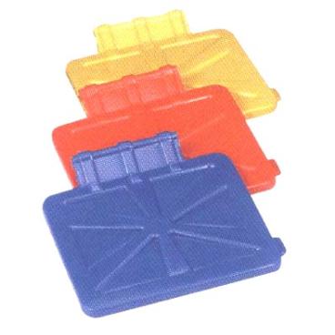Floorstar Kunststoffdeckel D 120 PX für SOLID / X-Wagen Farbe: rot