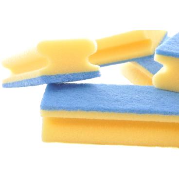 Floorstar Scheuerschwamm PADDY mit Griff, kratzfrei Farbe: gelb-blau