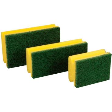 Floorstar Scheuerschwamm PADDY mit Griff 1 Polybeutel = 10 Stück, Größe 2, Format: 15 x 7 x 4,5 cm