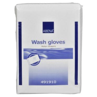 ABENA® Molton Ultra Sonic Waschhandschuh, weiß