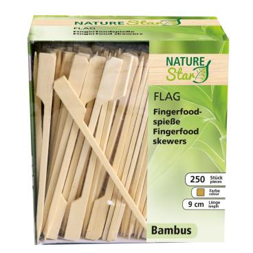 NATURESTAR Flag Fingerfood Spieße, natur