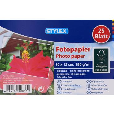 STYLEX® Fotopapier, 10 x 15 cm