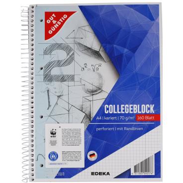 Collegeblock, A4