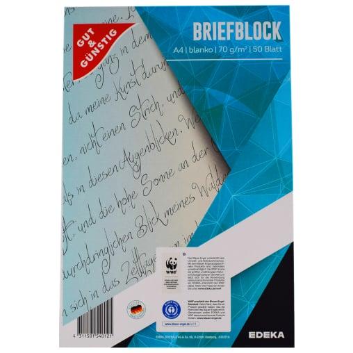 Briefblock, A4, 50 Blatt