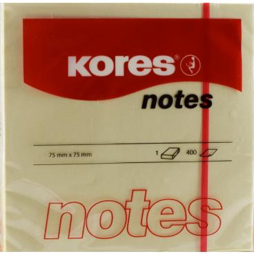 Kores Notes Haftnotizen, 75 x 75 mm, gelb