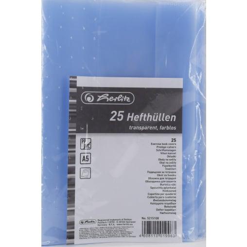 Herlitz Hefthüllen, A5, transparent