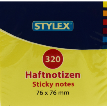 STYLEX® Neon Haftnotizen, 76 x 76 mm