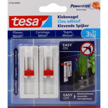 tesa® Klebenagel für Fliesen und Metall, verstelbar, 3 kg