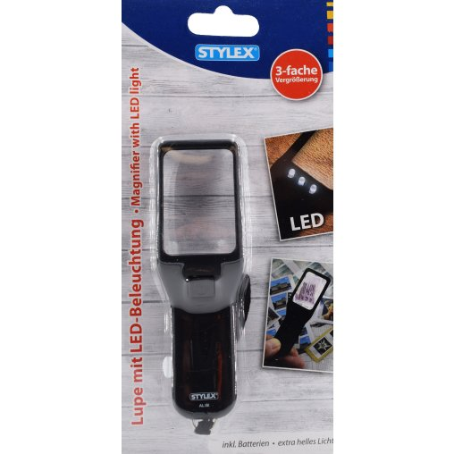 STYLEX® Lupe mit LED-Beleuchtung