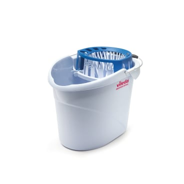 Vileda Professional SuperMop Eimer, mit Wringer 10 l - Eimer, grau - blau
