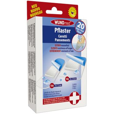 WUNDmed® Wundversorgung Pflaster, extrem wasserfest