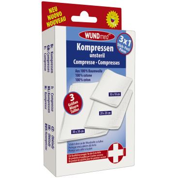 WUNDmed® Wundversorgung Kompressen, unsteril