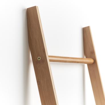 Zeller Bamboo Leiter-Handtuchhalter Maße: ca. 50 x 3,5 x 182,5 cm