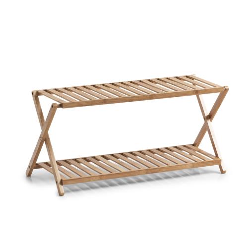 Zeller Bamboo Schuhregal mit 2 Ablagen