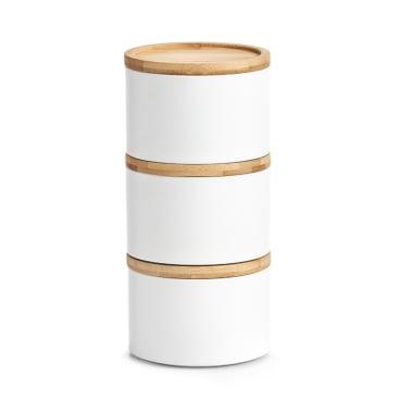Zeller Bamboo Vorratsdose Maße: ca. Ø 13 x 9,7 cm, weiß