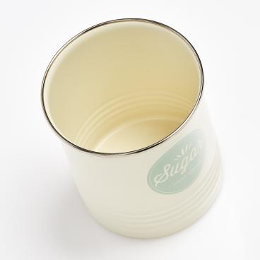 Zeller Sugar Vorratsdose, creme/mint Maße: ca. Ø 11,3 x 16,5 cm
