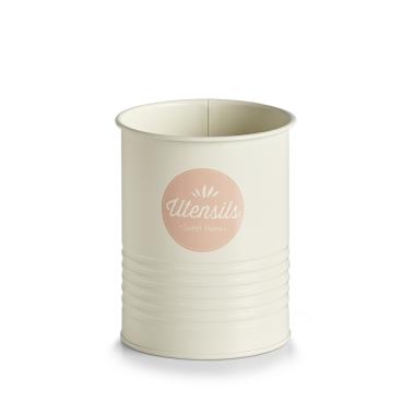 Zeller Utensilienhalter, creme/rosé Maße: ca. Ø 11,2 x 15 cm
