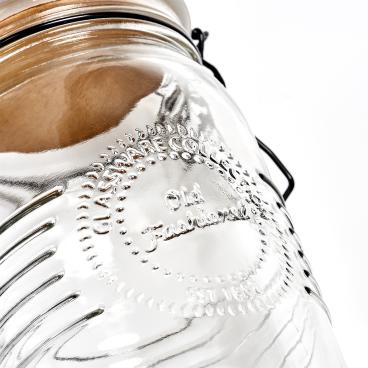Zeller Vorratsglas, mit Bügelverschluss Maße: ca. Ø 10,8 x 22 cm, 1,45 Liter