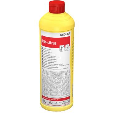 ECOLAB Into® Citrus Sanitär-Kraftreiniger 1000 ml - Flasche (1 Karton = 12 Flaschen)