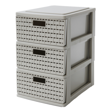 Rotho COUNTRY Schubladenbox, taupe