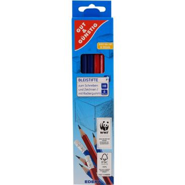 Bleistift mit Tip, farbig sortiert