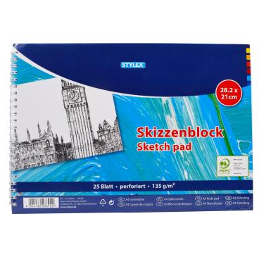 STYLEX® Skizzenblock, 25 Blatt, DIN A4