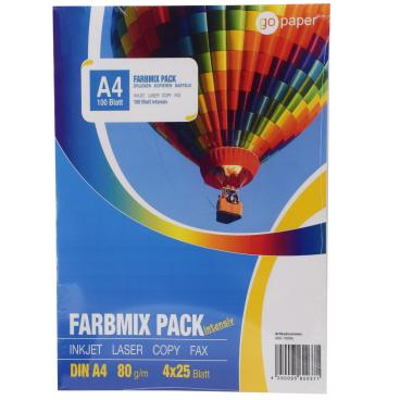 GoPaper Kopierpapier DIN A4, 80 g/m², Farbmix Pack