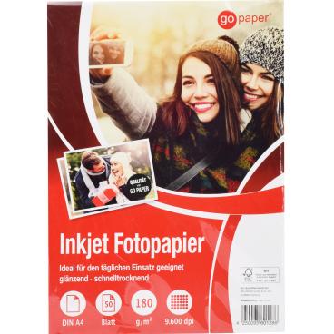 GoPaper Inkjet Fotopapier DIN A4, 180g/m²