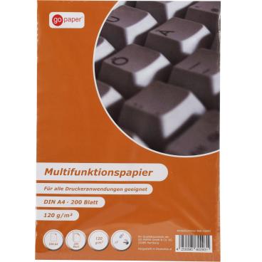 GoPaper Mulitifunktionspapier DIN A4, 120 g/m², weiss