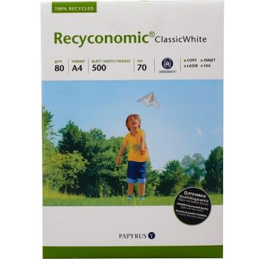 Recyconomic®  Classic White Kopierpapier DIN A4, 80 g/m² 1 Packung = 500 Blatt