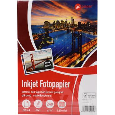GoPaper Fotopapier, DIN A4, 240g/m²