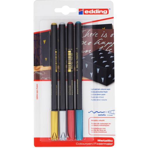 edding® 1200 Colourpen Metallic-Fasermaler