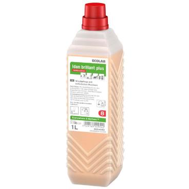 ECOLAB Idan brillant plus Wischpflege 1000 ml - Öko-Nachfüllpack (1 Karton = 6 Stück)