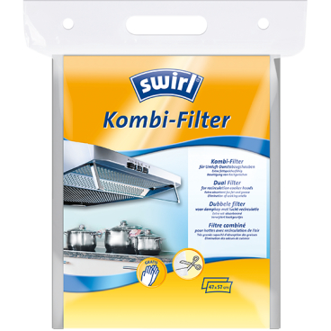 Swirl Kombi-Filter für Umluft-Dunstabzugshauben