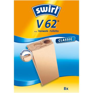 Swirl V 62 Staubfilterbeutel für Vorwerk Typ V 62