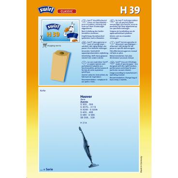 Swirl H 39 für Hoover Typ H 39