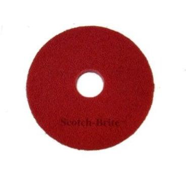 3M Scotch-Brite™ Superpad, Ø 406 mm 1 Karton = 5 Pads, Farbe: rot