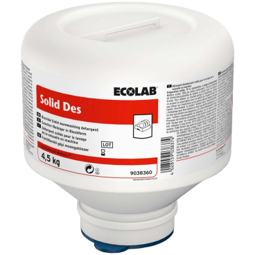 ECOLAB Solid DES Maschinenspülmittel 4,5 kg - PE-Foldaway (1 Karton = 4 Stück)