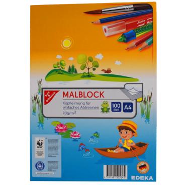 Malblock, 100 Blatt, DIN A4