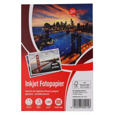 GoPaper Inkjet Fotopapier DIN A6, 10 x 15 cm
