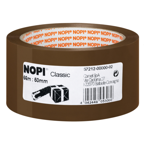 tesa® NOPI® Classic Packband, braun, 66 Meter