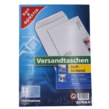 Versandtasche, DIN B4, 25 x 35,3 cm