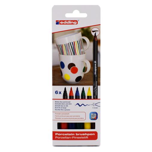 edding® 4200 Porzellan-Pinselstift, bunt