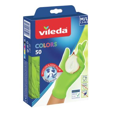 Vileda Colors Nitril Einmalhandschuhe 50