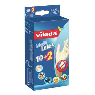 Vileda Multi Latex Einmalhandschuhe 10+2