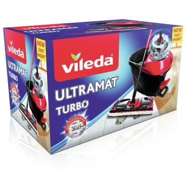 Vileda UltraMat Turbo Bodenwischer Komplett-Set, 5-teilig