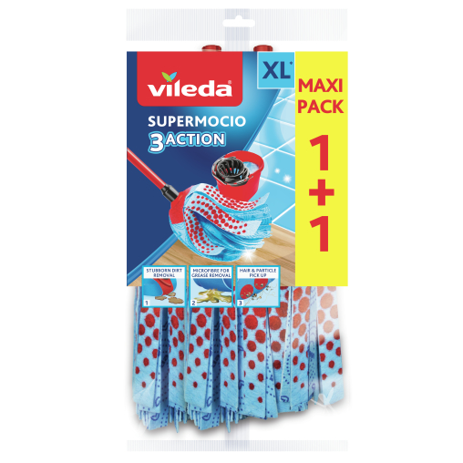 Vileda SuperMocio 3xAction Velour Wischmopp