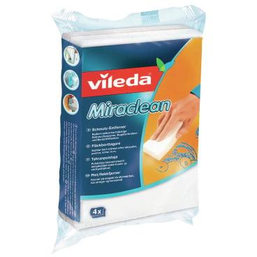 Vileda Professional Miraclean, Schmutzradierer 1 Packung = 4 Stück, 10 x 5 x 2,8 cm