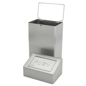 SanTRAL® ABU 18 Abfallbox, 18 Liter Edelstahl, geschliffen, E